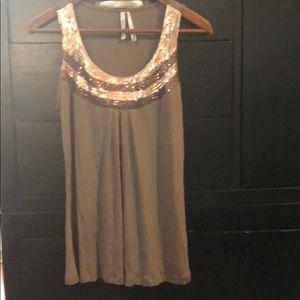Glam brown sequin top